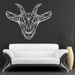 Sticker Géométrique - Tête de Chèvre