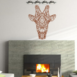 Sticker Géométrique - Tête de Girafe