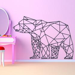 Sticker Géométrique - Ours Polaire