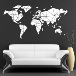 Géométrique - Mappemonde Planisphère motif plein