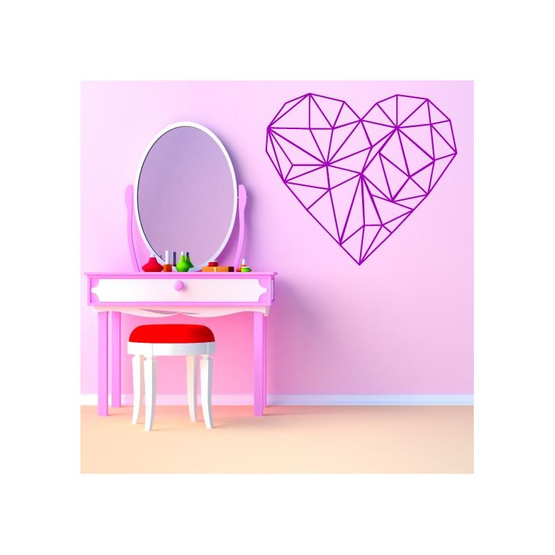 Sticker Géométrique - Coeur