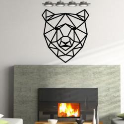 Sticker Géométrique - Tête d'Ours 2