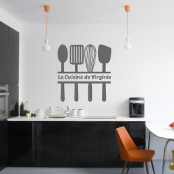 Sticker Cuisine - Ustensiles de cuisine et texte La cuisine de ...