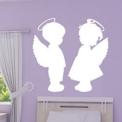 Sticker Silhouette Anges Fille et Garçon