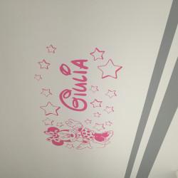 Sticker Minnie Robe - Etoiles et prénom