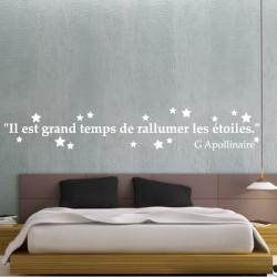 Texte : Il est grand temps de rallumer les étoiles - G Apollinaire