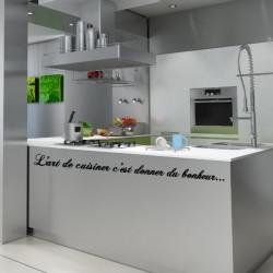 Sticker Cuisine - L'art de cuisiner c'est donner du bonheur...