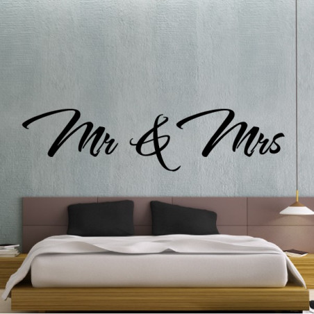 Texte Lettrage : Mr & Mrs