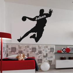 Sticker Joueur de Handball Silhouette
