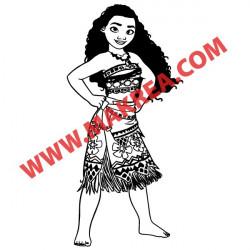 Sticker Vaiana Princesse
