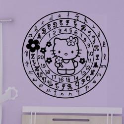 Hello Kitty Cercle Alphabet et Chiffres