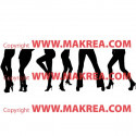Sticker Silhouettes Jambes femmes