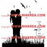 Sticker Couple d'amoureux