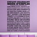 Sticker Texte Enfant charmant Mode d'Emploi