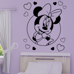 Sticker Minnie Coeurs