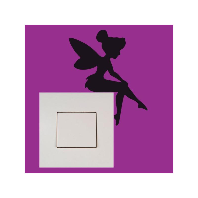 Stickers Interrupteur / Prise Fée Clochette Assise