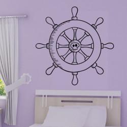 Sticker Pirate - Barre à roue de bateau
