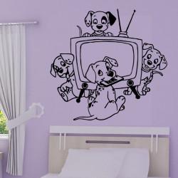 Sticker 101 Dalmatiens - Autour de la TV
