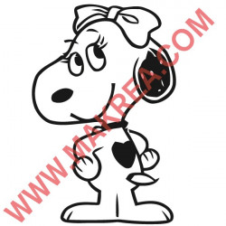 Sticker Snoopy - Copine