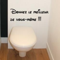 Sticker Abattant WC - Donnez le meilleur de vous-même !!!