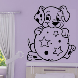 Sticker 101 Dalmatiens - Chiot et le ballon
