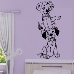 Sticker 101 Dalmatiens - Chiots l'un sur l'autre