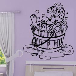 Sticker 101 Dalmatiens - Chiot prend un bain