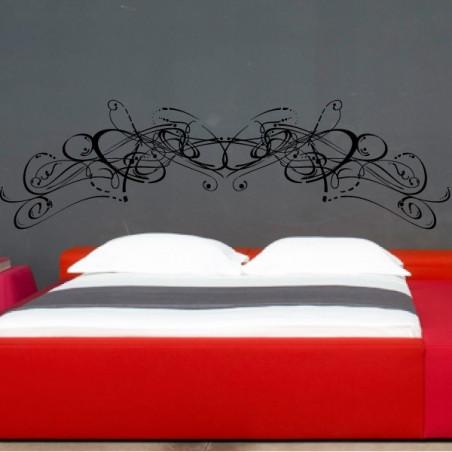 Ornement Tête de lit Art Floral Abstrait