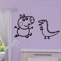 Sticker Peppa Pig - George & Dinosaure