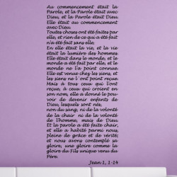 Sticker Texte : Jean 1, 1-14