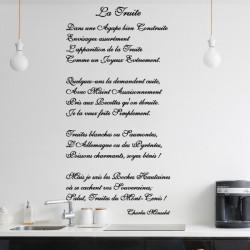 Lettrage - La truite de Charles Monselet