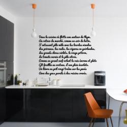Texte : Dans la cuisine où flotte une senteur de thym...