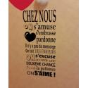 Sticker Texte Chez nous on s'amuse