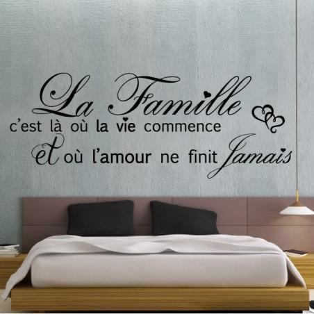 Texte La Famille c'est là où la vie commence + Coeurs
