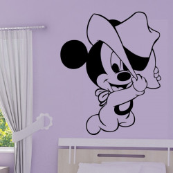 Sticker Bébé Mickey Chapeau