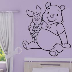 Sticker Winnie & Porcinet