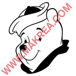 Sticker Winnie Visage