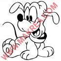 Sticker Bébé Pluto Heureux