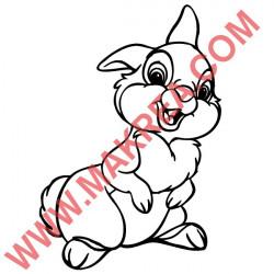 Sticker Bambi - Panpan Heureux