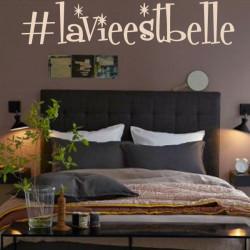 Sticker Hashtag La Vie Est Belle