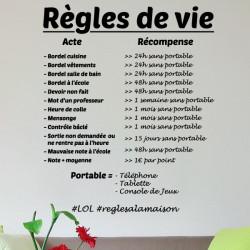 Texte Règles de vie