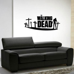 Sticker The Walking Dead - Zombie et Croix