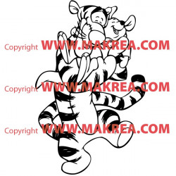 Sticker Tigrou et Porcinet