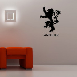 Sticker Game Of Thrones - Blason Maison Lannister