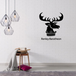 Sticker Game Of Thrones - Blason Maison Renley Baratheon