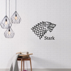 Sticker Game Of Thrones - Blason Maison Stark
