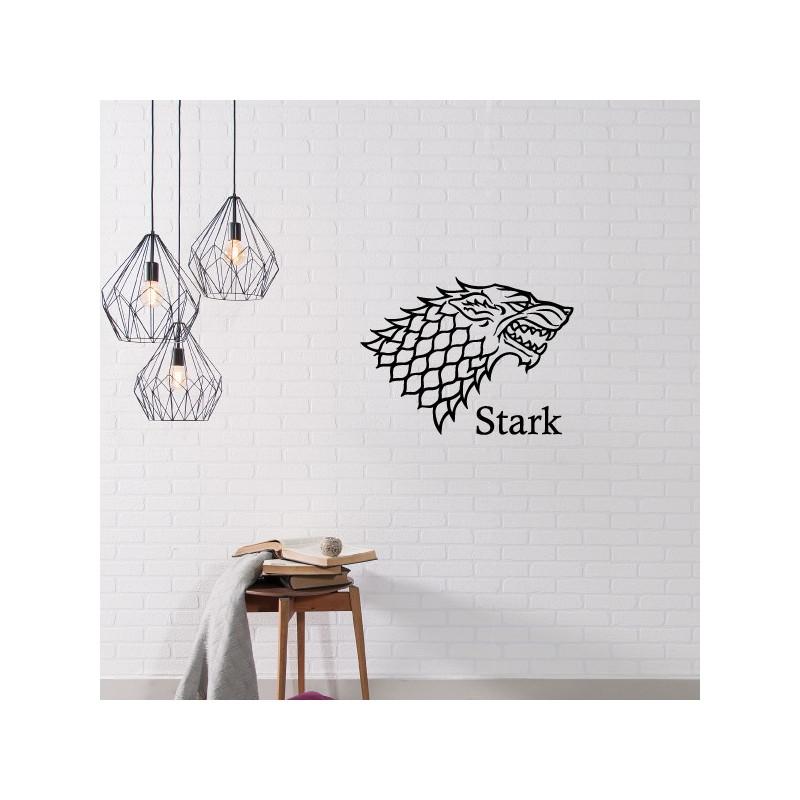 sticker game of thrones blason maison stark. Black Bedroom Furniture Sets. Home Design Ideas