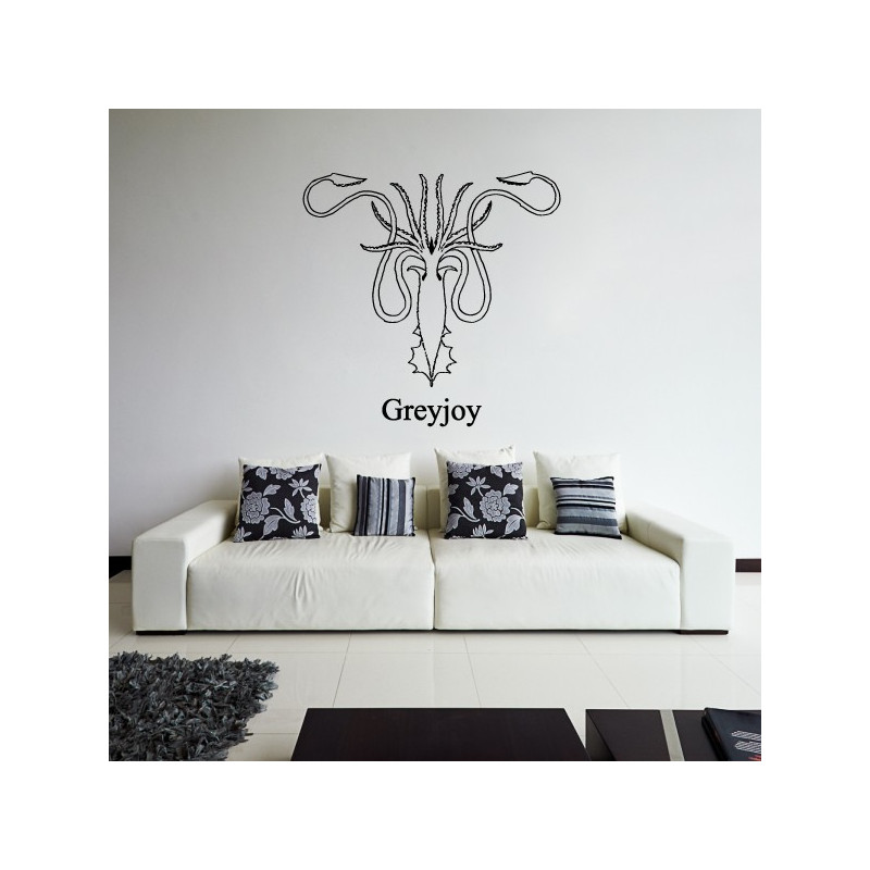 Sticker game of thrones blason maison greyjoy for Decoration maison games