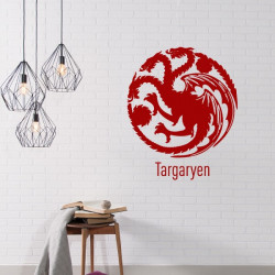 Sticker Game Of Thrones - Blason Maison Targaryen