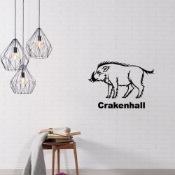 Sticker Game Of Thrones - Blason Maison Crakenhall